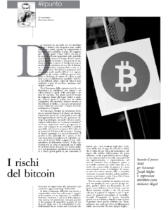 I rischi del bitcoin