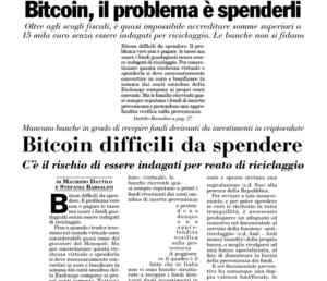 Bitcoin, il problema è spenderli