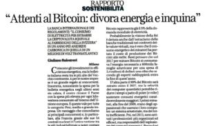 Attenti al Bitcoin: divora energia e inquina