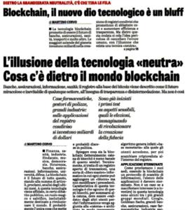Blockchain, il nuovo dio tecnologico un bluff – L'illusione della tecnologia «neutra». Cosa c'è dietro il mondo blockchain