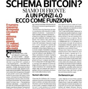 Schema bitcoin? Siamo di fronte a un Ponzi 4.0 Ecco come funziona