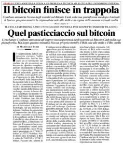 Il bitcoin finisce in trappola – Quel pasticciaccio sul bitcoin