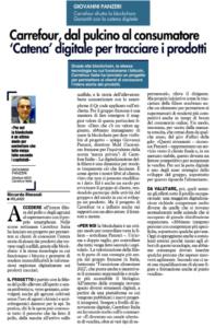 Carrefour sfrutta la blockchain Garantiti con la catena digitale – Carrefour dal pulcino al consumatore 'Catena' digitale per tracciare i prodotti