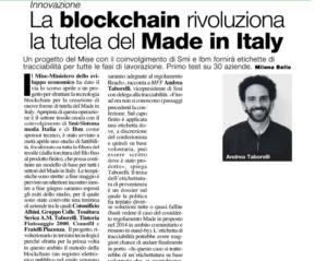 La blockchain rivoluziona la tutela del Made in Italy