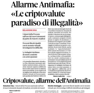 Allarme Antimafia: «Le criptovalute paradiso di illegalità»
