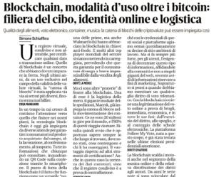 Blockchain, modalità d'uso oltre i bitcoin: filiera del cibo, identità online e logistica