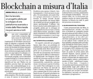 Blockchain a misura d'Italia