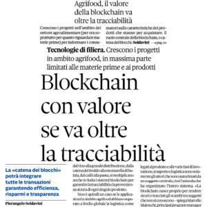 Agrifood, il valore della blockchain va oltre la tracciabilità