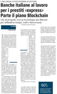 """Banche italiane al lavoro per i prestiti """"express"""" – Parte il piano Blockchain"""