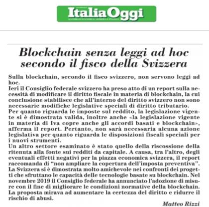 Blockchain senza leggi ad hoc secondo il fisco della Svizzera