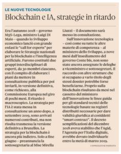 Blockchain e IA, strategie in ritardo