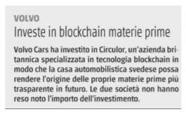 Investe in blockchain materie prime