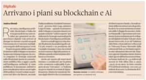 Arrivano i piani su blockchain e AI