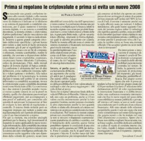 Prima si regolano le criptovalute e prima si evita un nuovo 2008