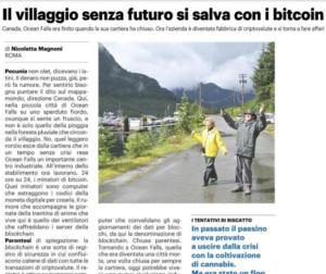 Il villaggio senza futuro si salva con i bitcoin