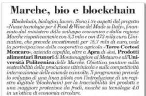 Marche, bio e blockchain