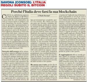 L'Italia regoli subito il bitcoin