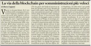 La via della blockchain per somministrazioni più veloci