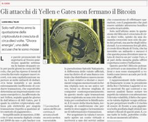 Gli attacchi di Yellen e Gates non fermano il Bitcoin