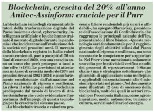 Blockchain, crescita del 20% all'anno Anitec-Assinform: cruciale per il Pnrr