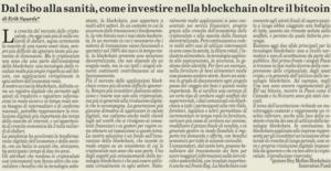 Dal cibo alla sanità, come investire nella blockchain oltre il bitcoin